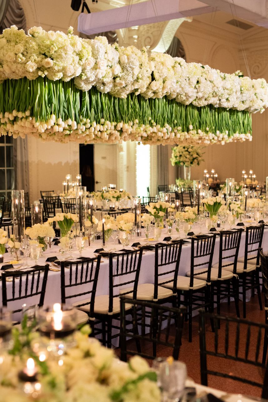 wedding hanging floral arrangement