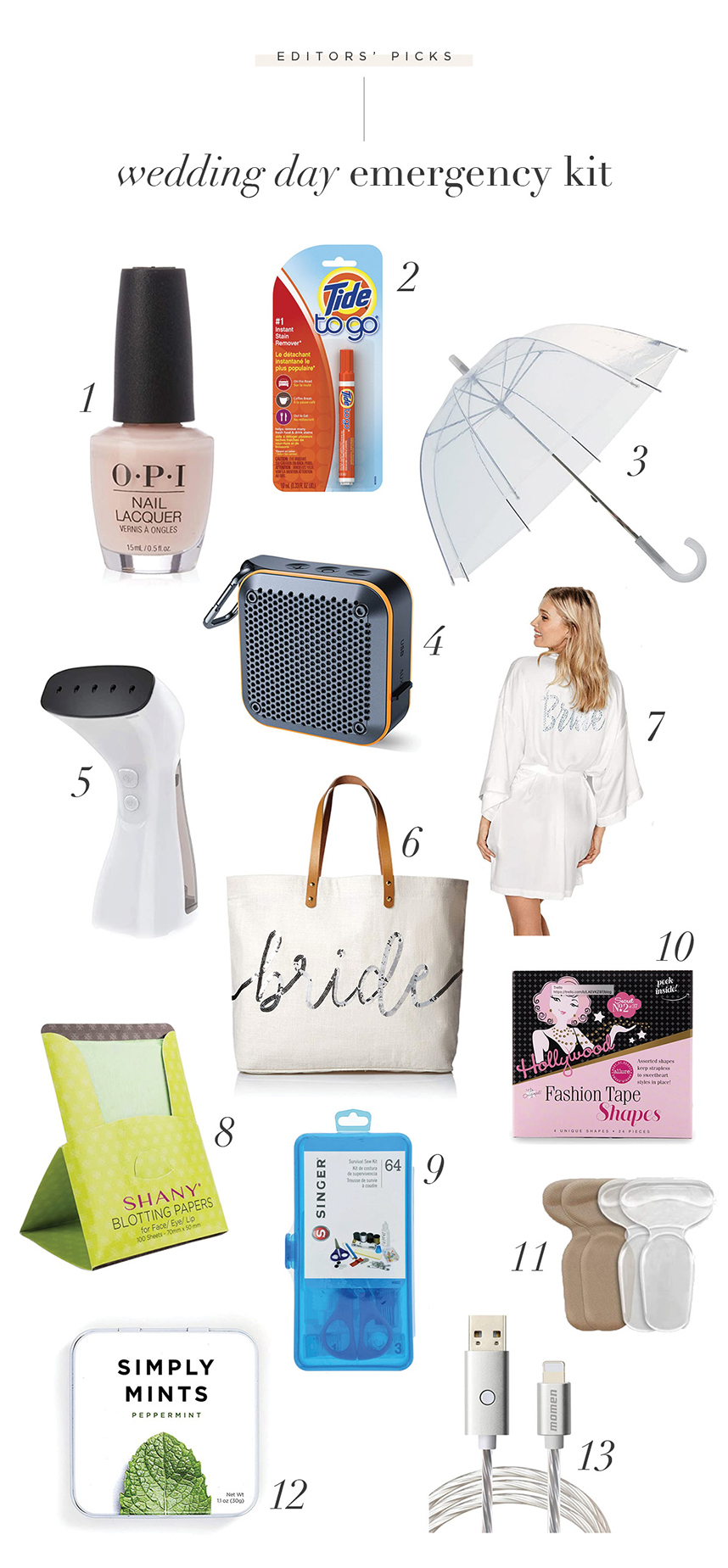 What to Pack in your Emergency Wedding Day Kit