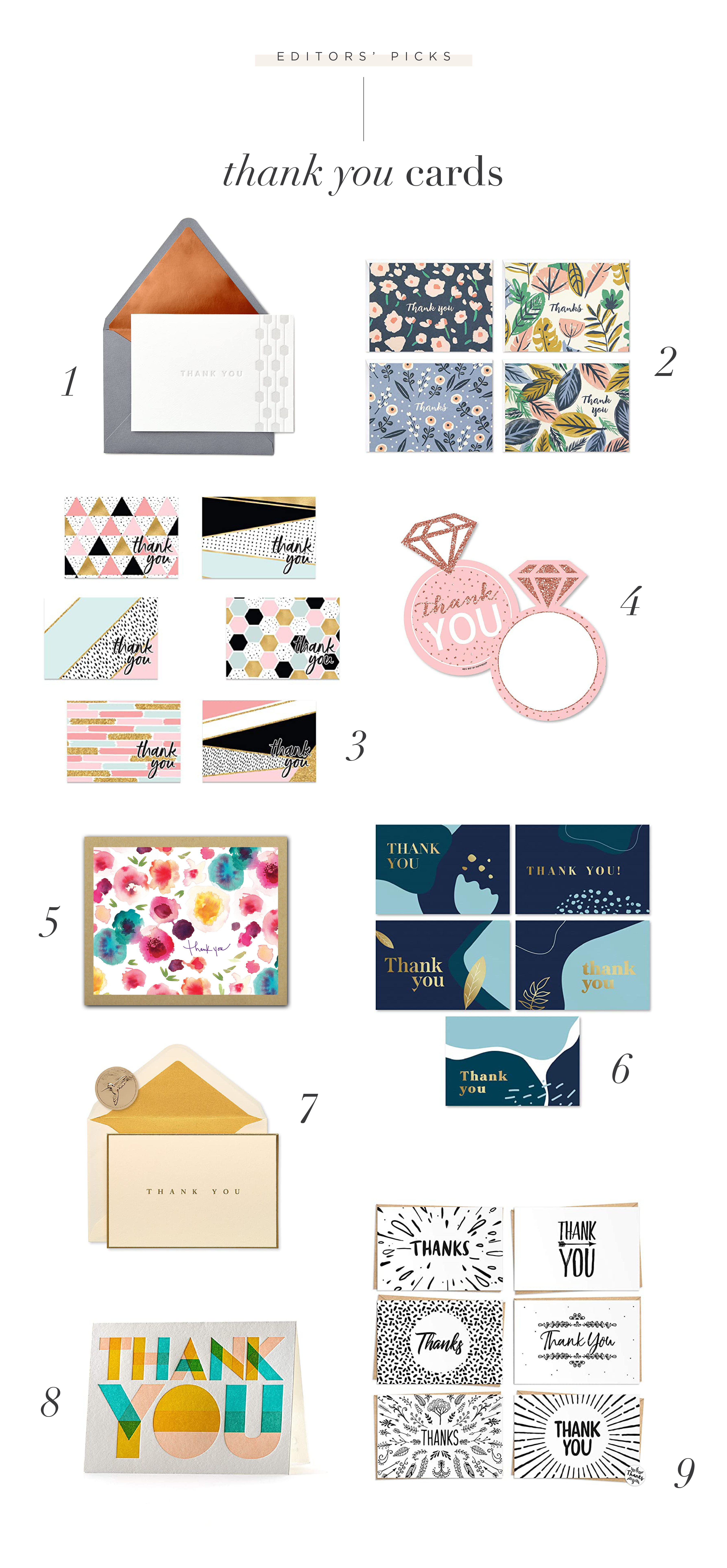 Tips & Tricks for Sending Out Your Thank You Cards (Plus Our Faves!)
