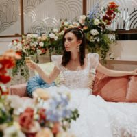 Mod Deco Style Wedding Inspiration Oklahoma Wedding Venue The Yale Theater Oklahoma Wedding Photographer KGC Photography
