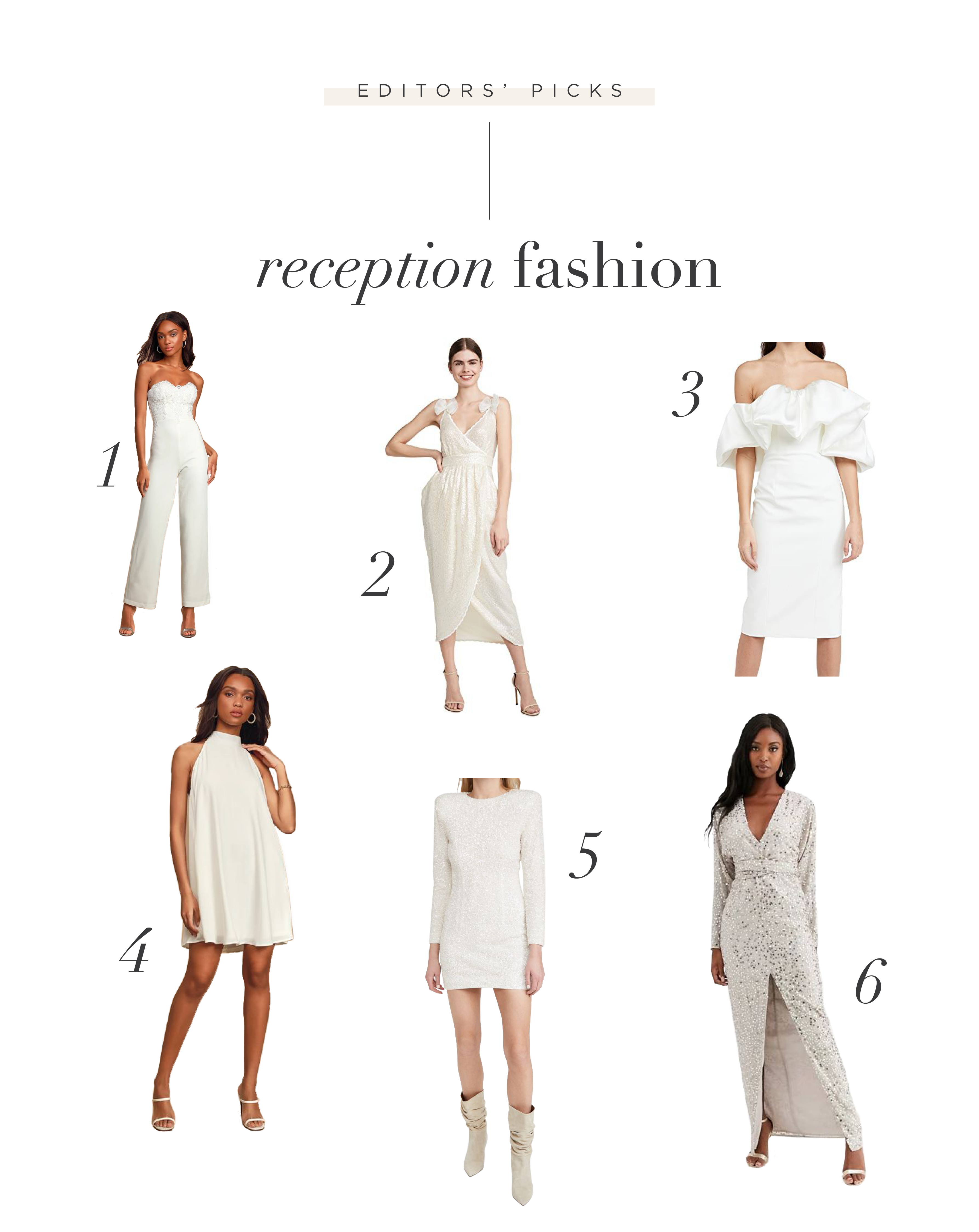 Choosing the Perfect Wedding Reception Fashion + Exit Attire