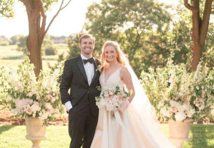 Bride + groom full shot