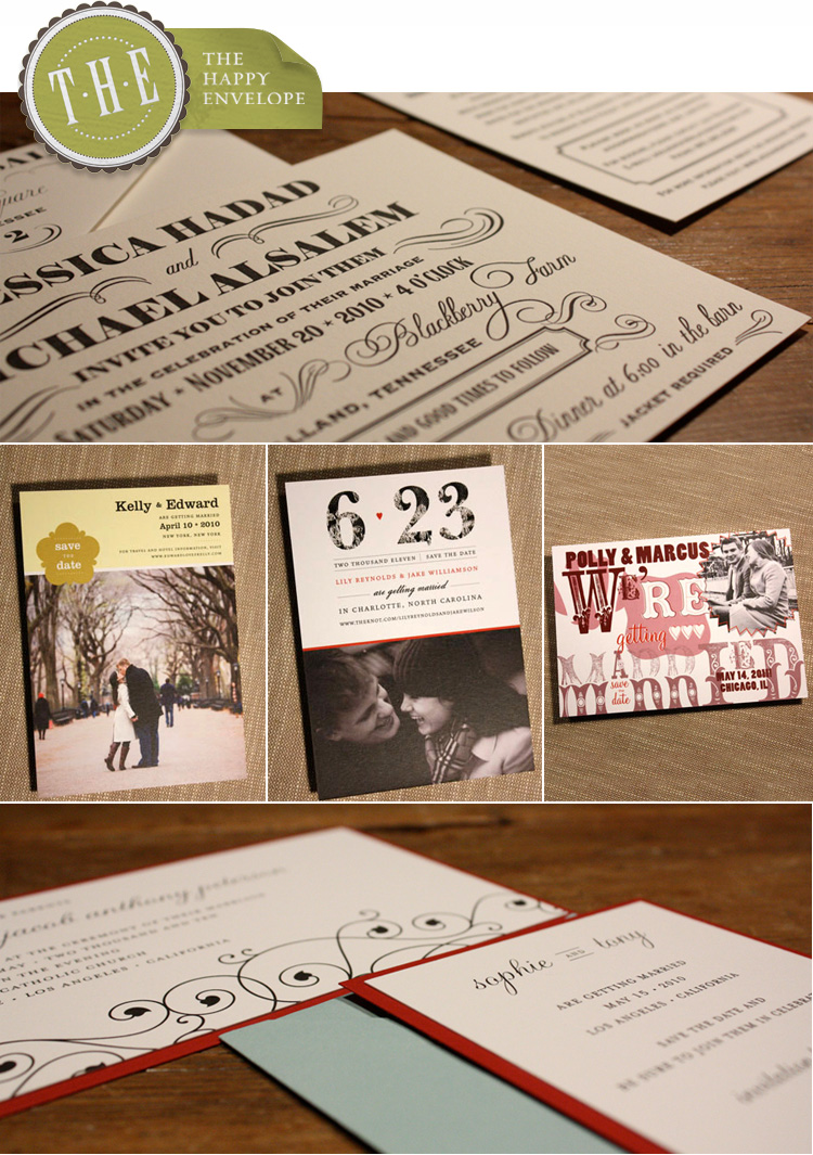 Oklahoma wedding invitations The Happy Envelope at Chirps and Cheers and Paper Girl