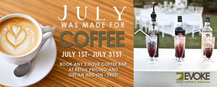 Cafe Evoke, July was made for coffee