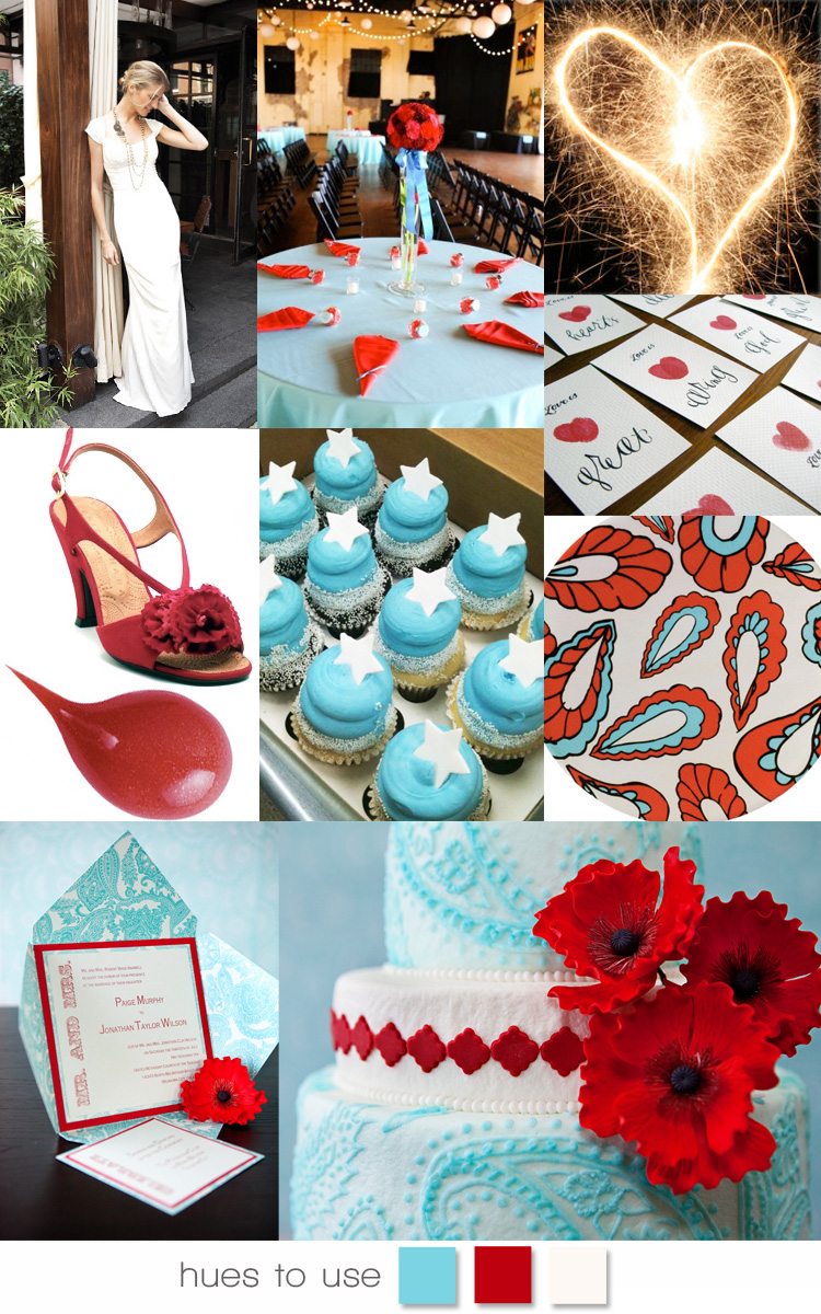 Oklahoma wedding colors red white and blue