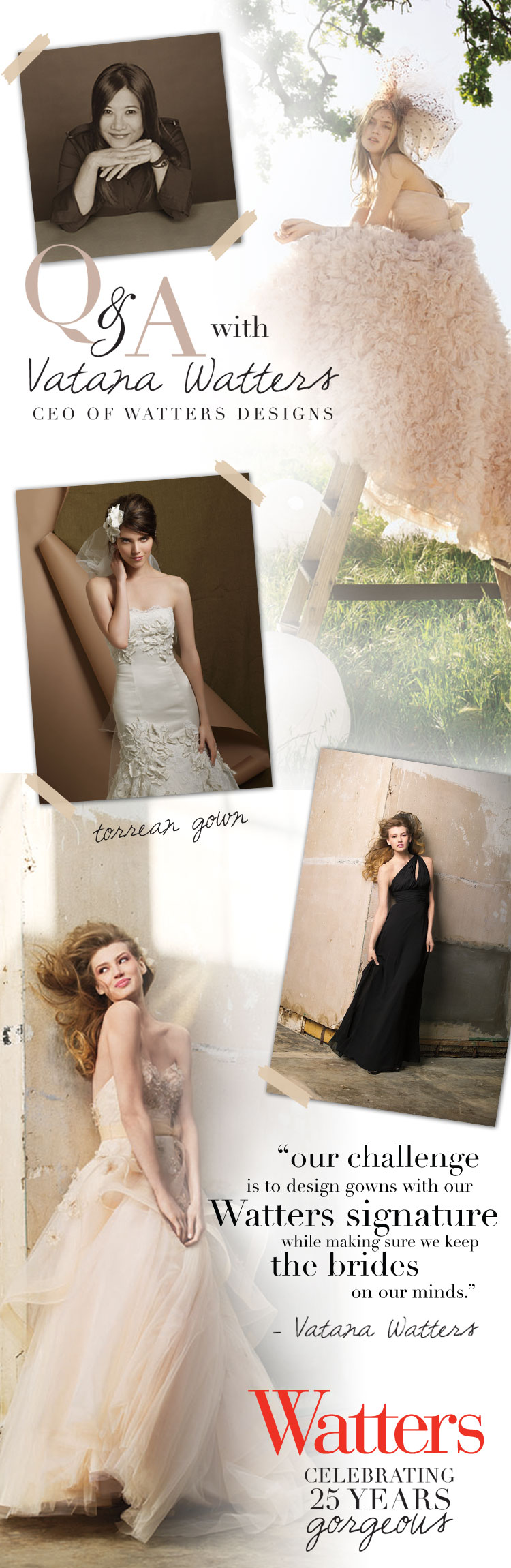 Watters Bridesmaid and Wedding Gown Options