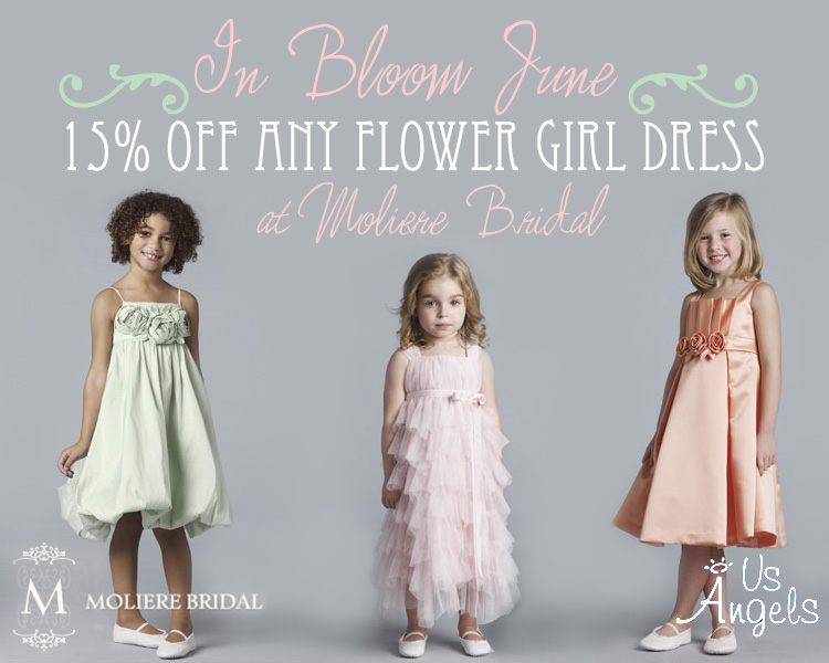 US Angels flower girl dresses Moliere Bridal Salon