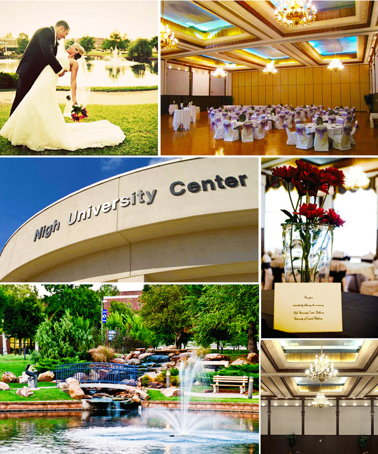 University of Central Oklahoma wedding and reception venue Edmond