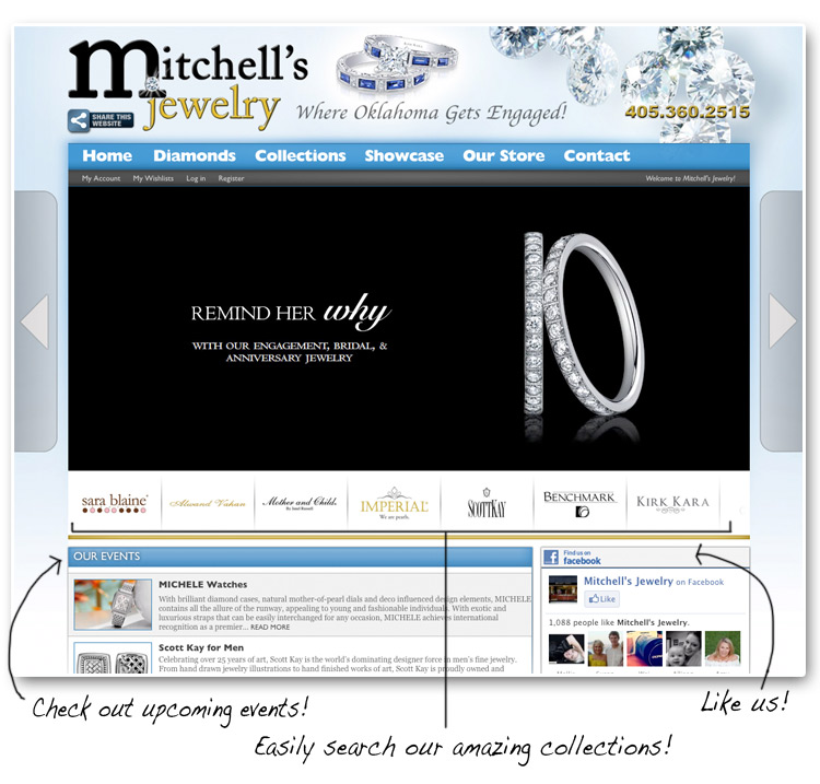 Oklahoma wedding and engagement rings - Mitchell's Jewelry in Norman, Oklahoma