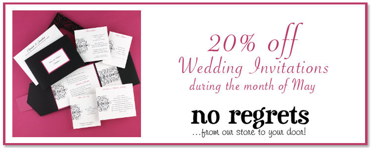 Oklahoma wedding invitations - No Regrets in Oklahoma City