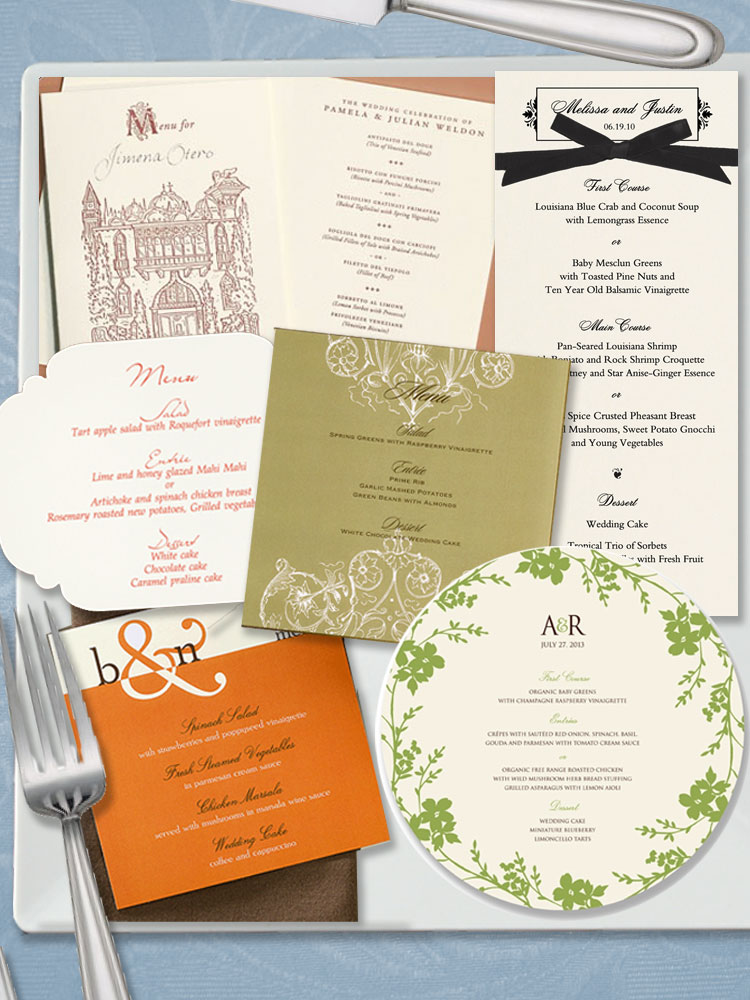 Oklahoma wedding invitations, programs, menus,
