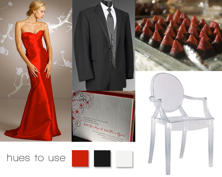 Red and Black Wedding Inspiration