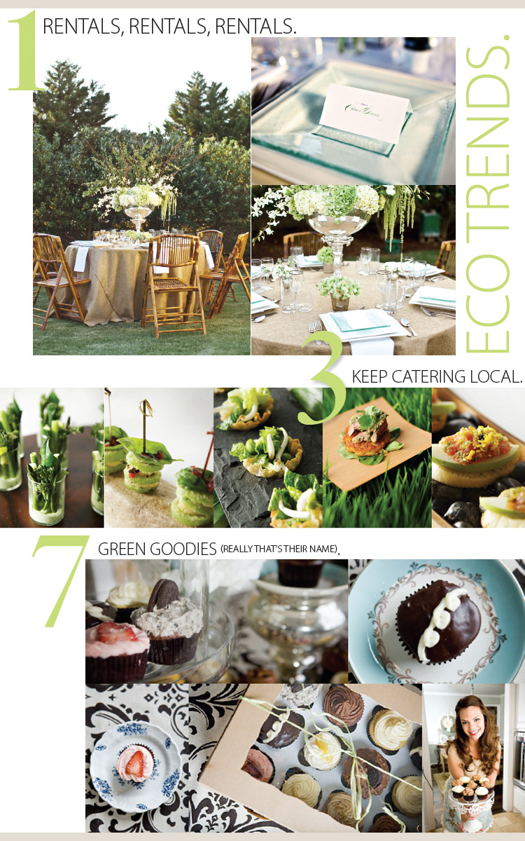 Wedding Eco Trends, Gibson Events, Lindsay Gibson