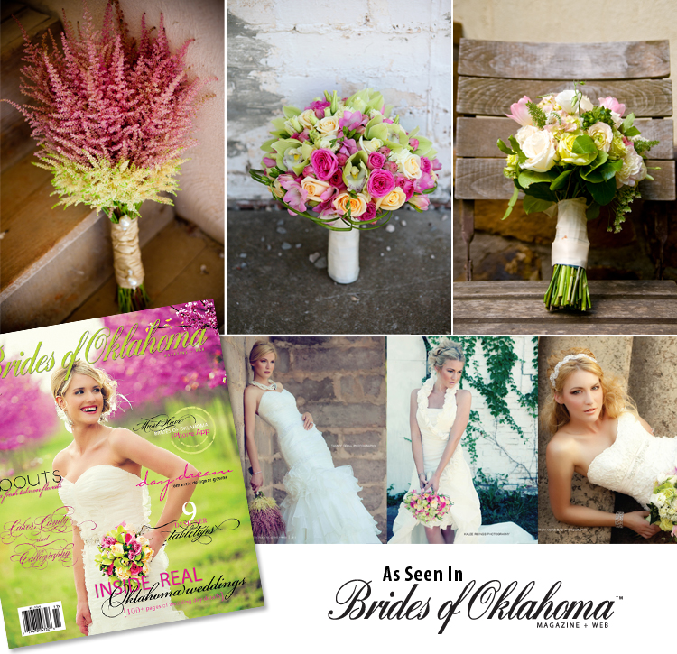 Brides of Oklahoma, Wedding Gown Editorial, Bouquets