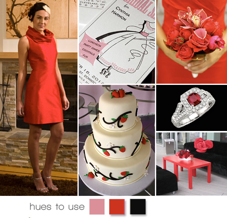 Pink Red and Black Wedding Inspiration, Hues to Use, Brides of Oklahoma
