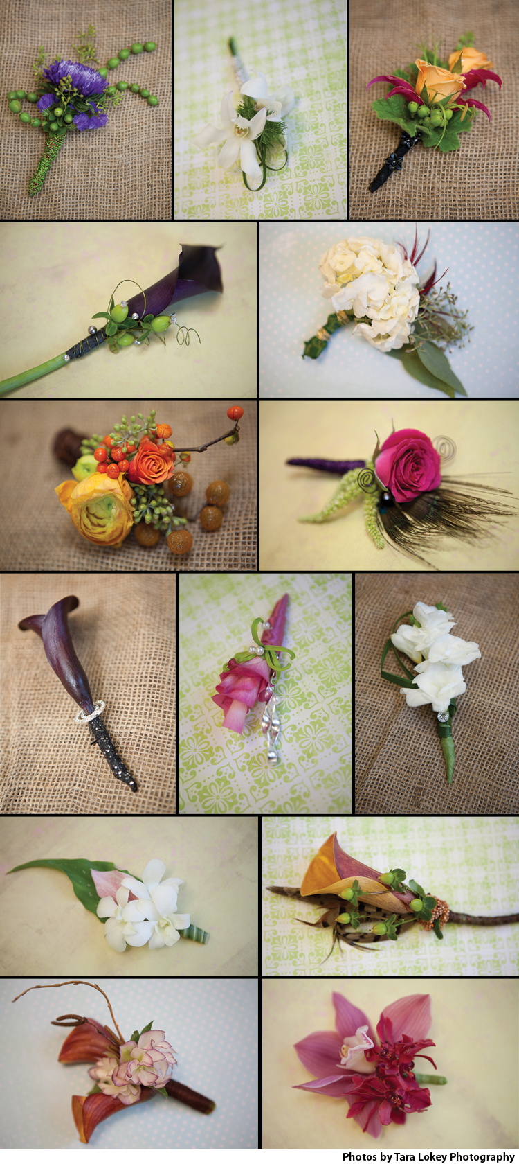 Boutonneires, Brides of Oklahoma, Oklahoma Wedding Florists