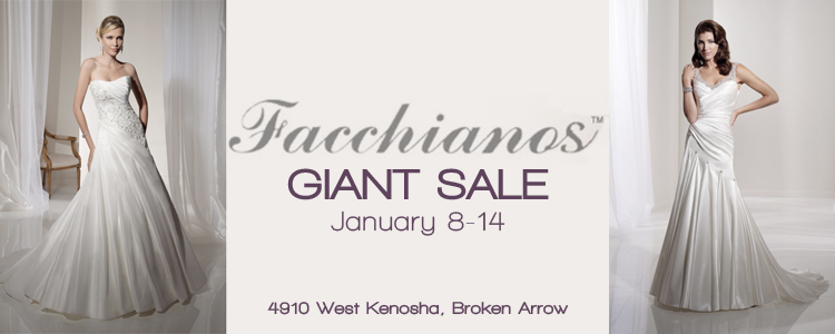 Facchianos Giant Sale, Broken Arrow Wedding Dress Boutique