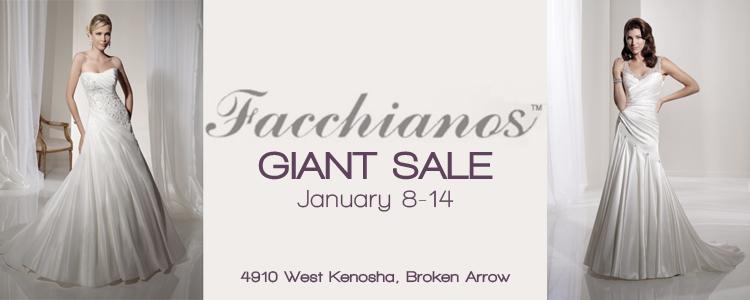 Facchianos Giant Sale, Broken Arrow Wedding Dress Boutique