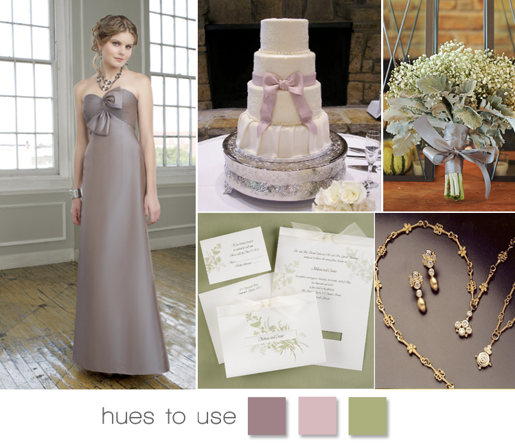 Brides of Oklahoma hues to use - Mauve, lilac and moss green