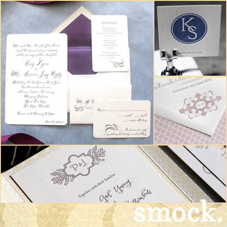 Smock invites available at The Inviting Place in Tulsa and No Regrets in Oklahoma City