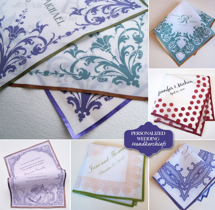 Personalized Wedding Handkerchiefs, Finds Great Wedding Favor Idea, Oklahoma Wedding Blog