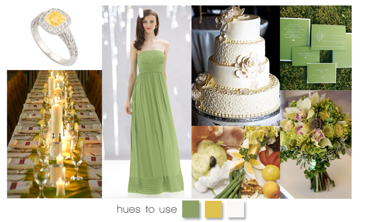 Yellow and Green Wedding Inspiration, Brides of Oklahoma Hues to Use