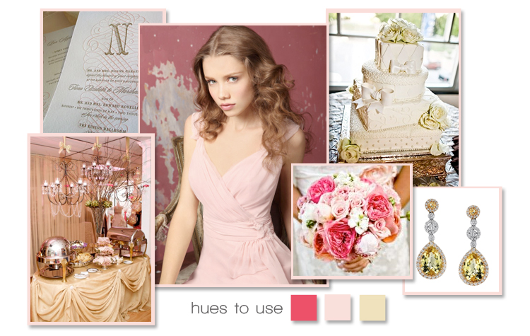 Find wedding inspiration and ideas across the state from Brides of Oklahoma-pink and gold