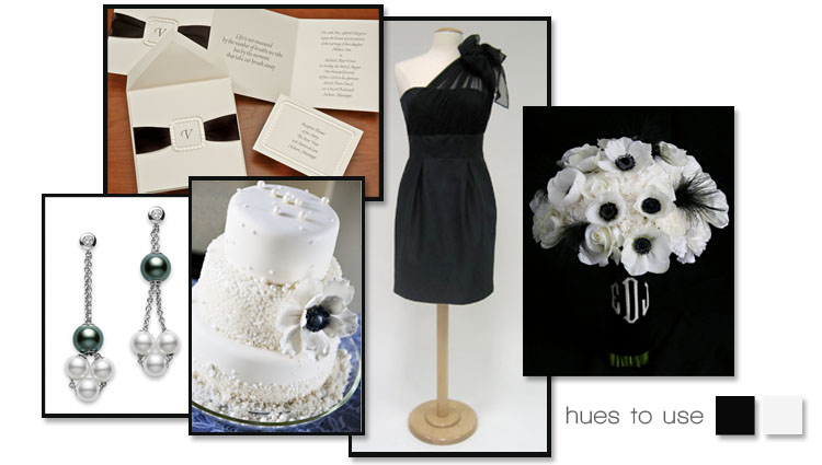 Black and white Oklahoma wedding colors
