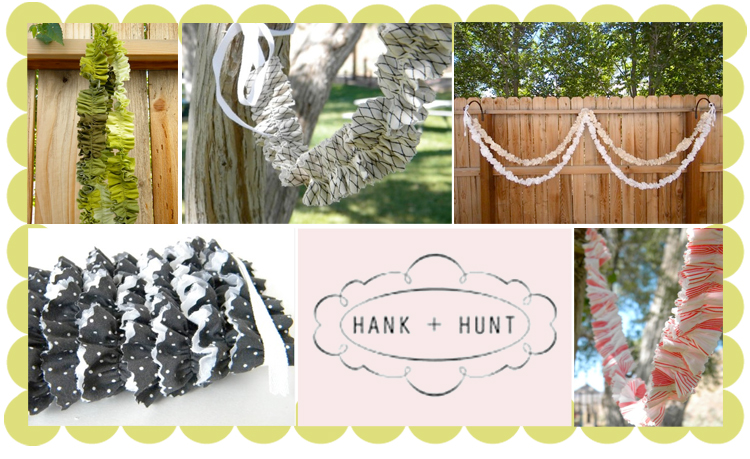 Hank and Hunt, Fabric Garlands, Wedding Decoration