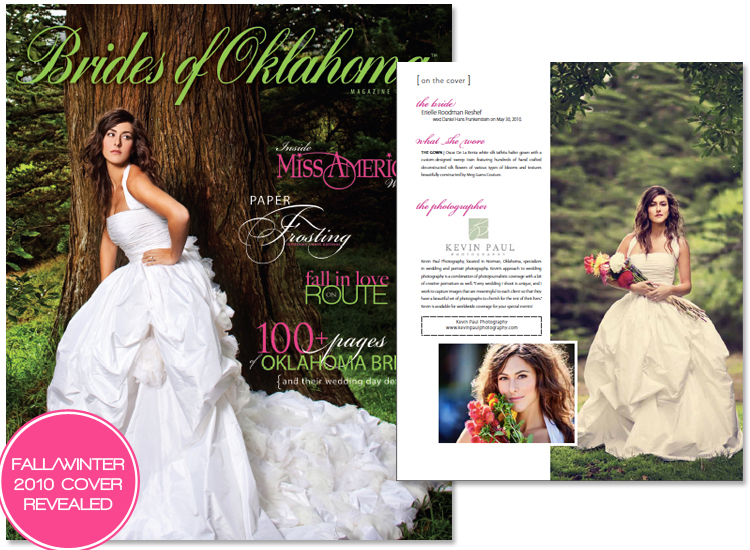 Brides of Oklahoma magazine Fall/Winter 2010 bride revealed