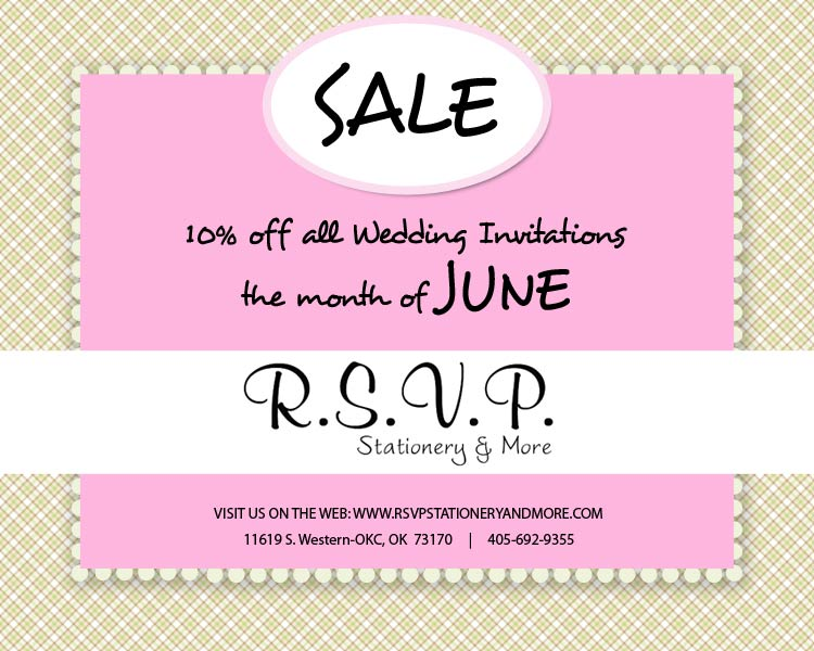 RSVP Invitations, Stationery in Oklahoma