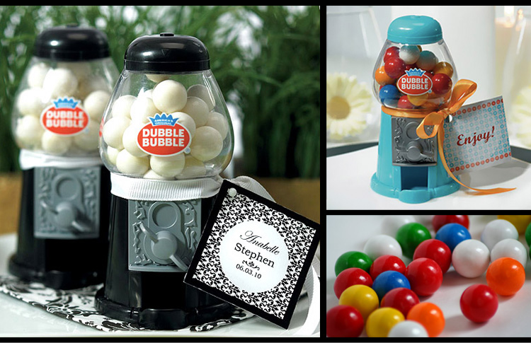 Oklahoma wedding favor ideas - Gumball machines