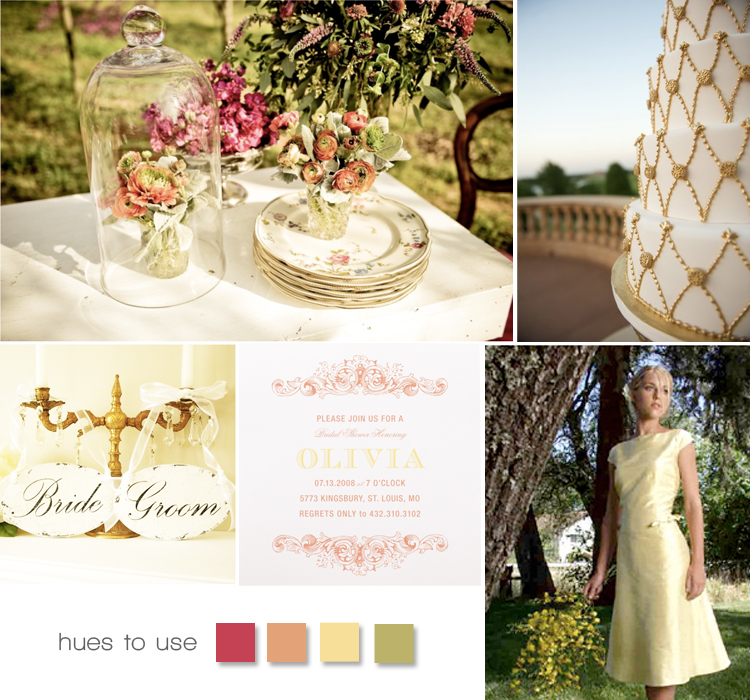 Brides of Oklahoma magazine hues to use - vintage shabby chic wedding inspiration