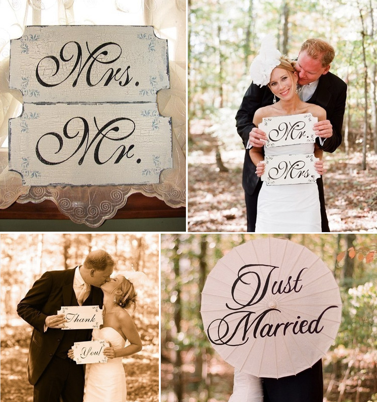 Just Married Signs, Creative concept, Cottage Signs, Great Find
