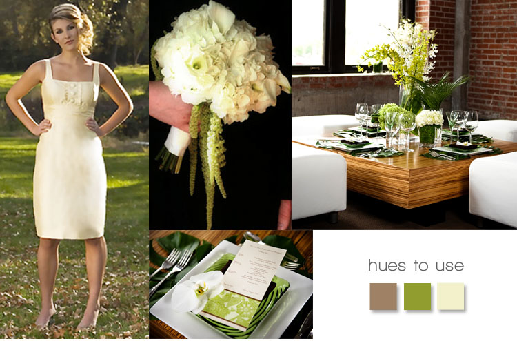 Summer garden wedding color combo