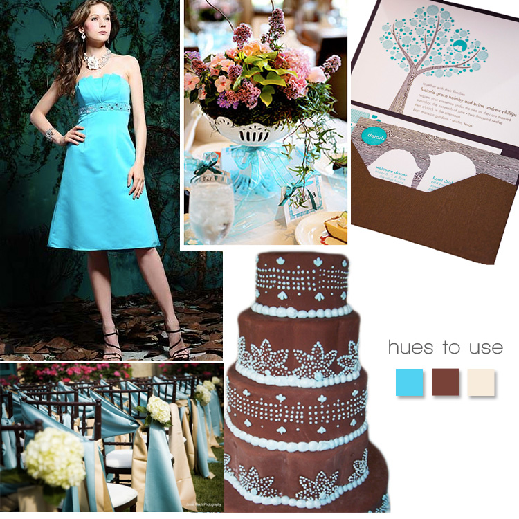 Turquoise and Brown Wedding Inspiration, the brides of oklahoma