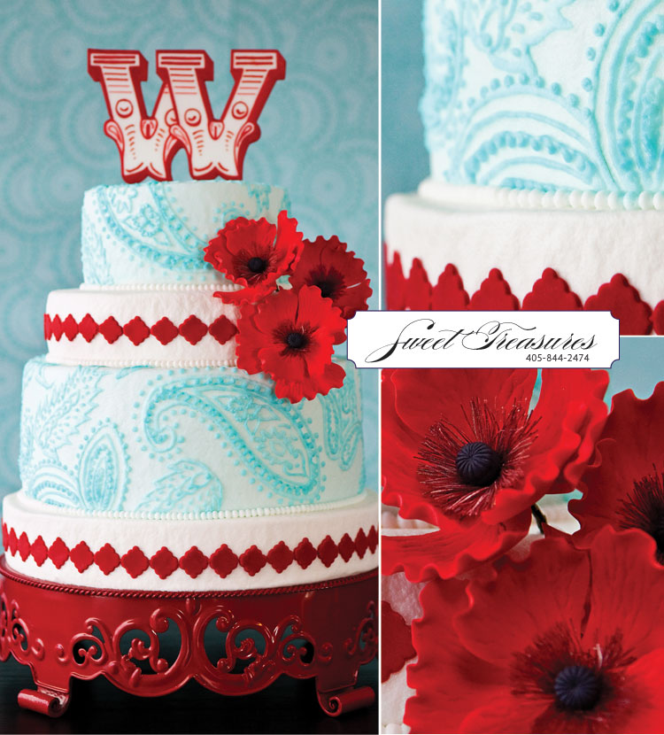Oklahoma wedding cake artist - Sweet Treasures in Edmond, Oklahoma