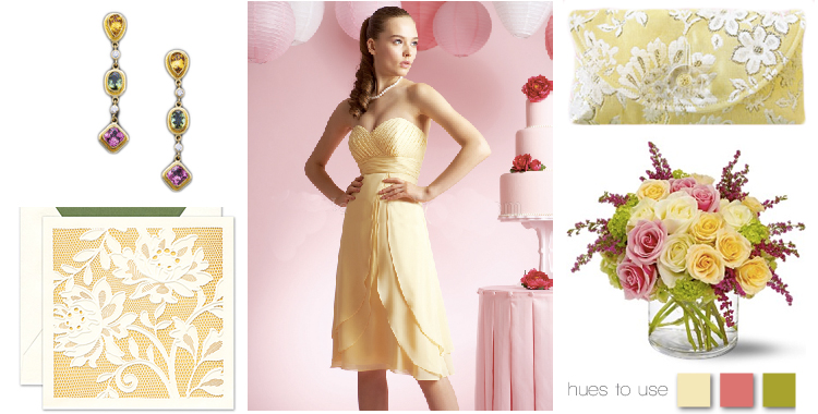 Brides of Oklahoma hues to use - pink and yellow