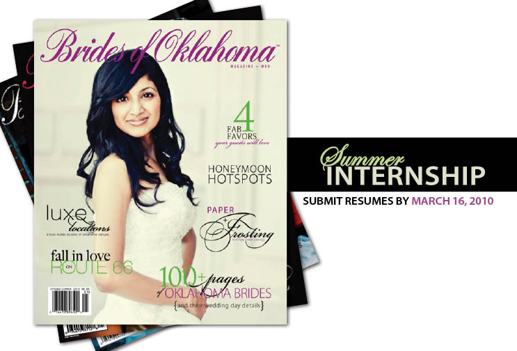 Brides of Oklahoma, Summer Internship