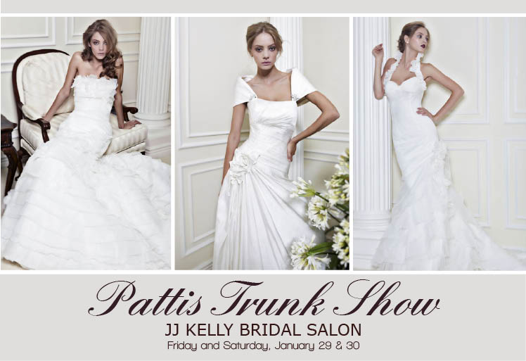 J.J. Kelly hosting Pattis Bridal Gown Trunk Show