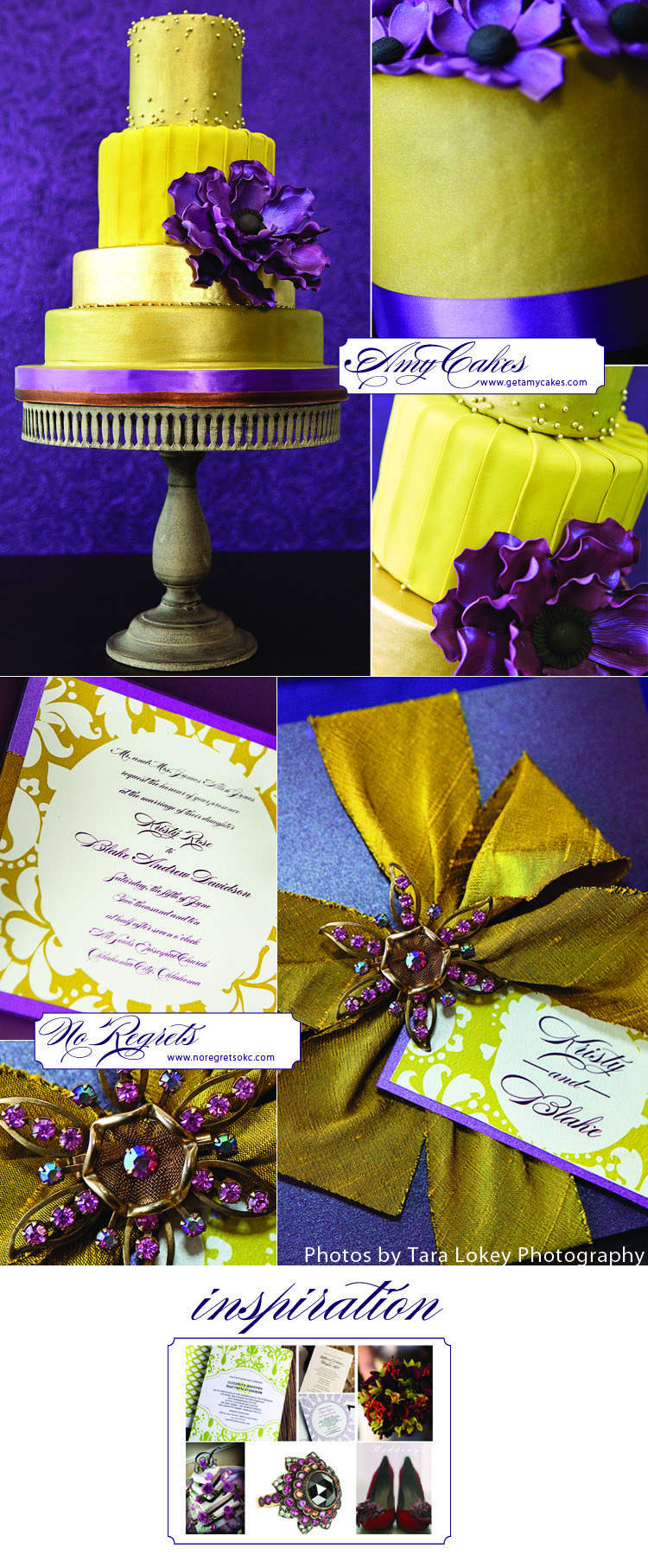 Amy Cakes in Norman, Oklahoma, and No Regrets wedding invitations in Oklahoma City, Oklahoma