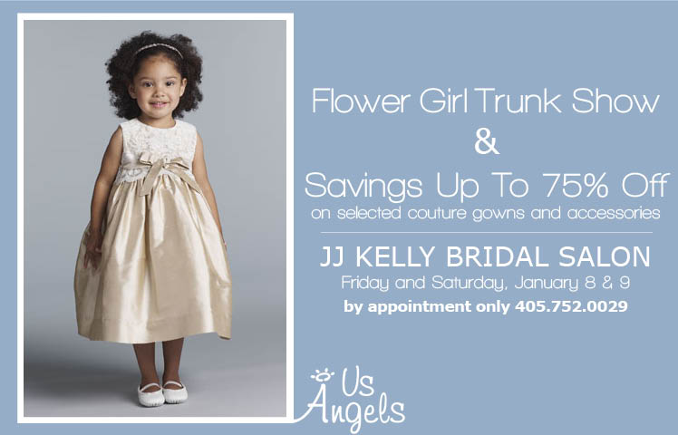 Flower girl trunk show and sale up to 75 percent off at JJ Kelly Bridal Salon