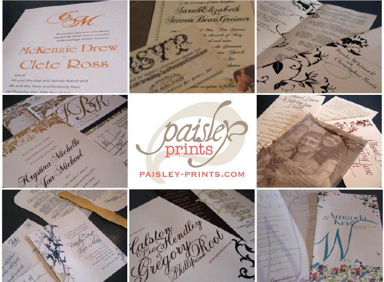 Paisley Prints invitations