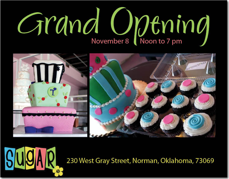 Wedding cake artists Sugar will have their Grand Opening in Norman, Oklahoma, Sunday, November 8