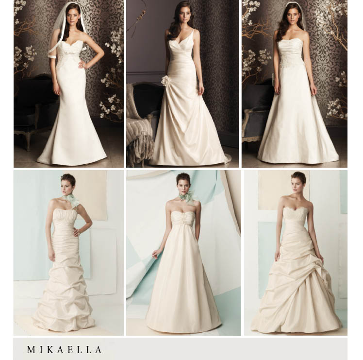 Mikaella bridal gowns coming soon to Moliere Bridal Salon in Oklahoma City, Oklahoma