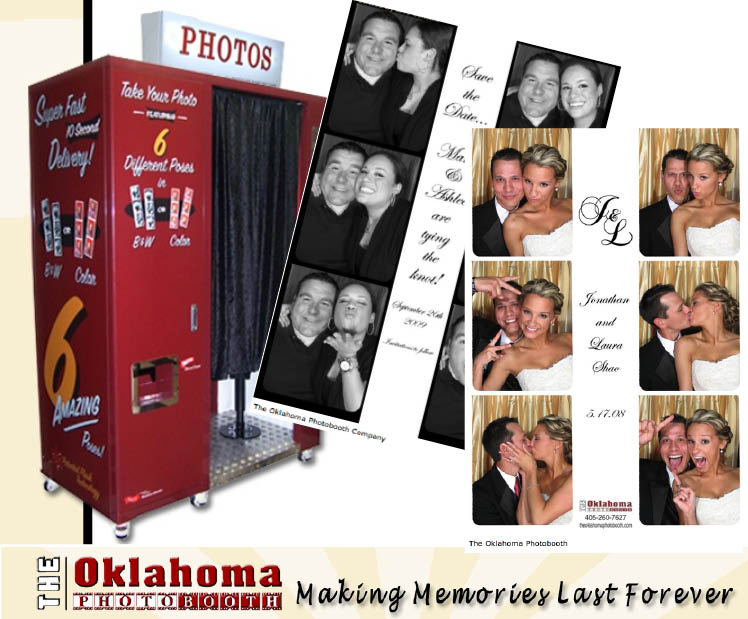 The Oklahoma Photo Booth is available for Oklahoma wedding receptions and events