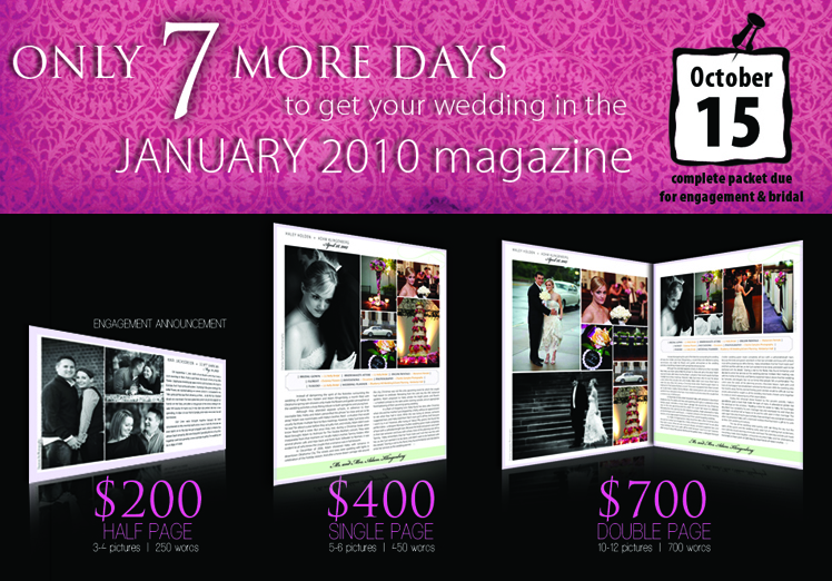 Announce your wedding in the Brides of Oklahoma magazine