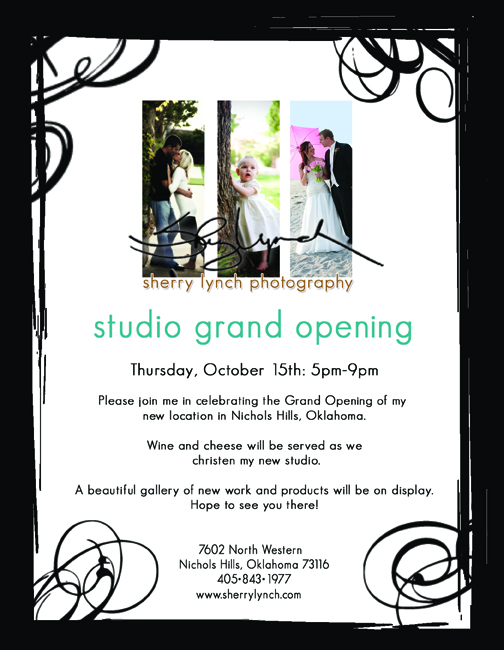 Oklahoma wedding photographer Sherry Lynch Photography studio grand opening