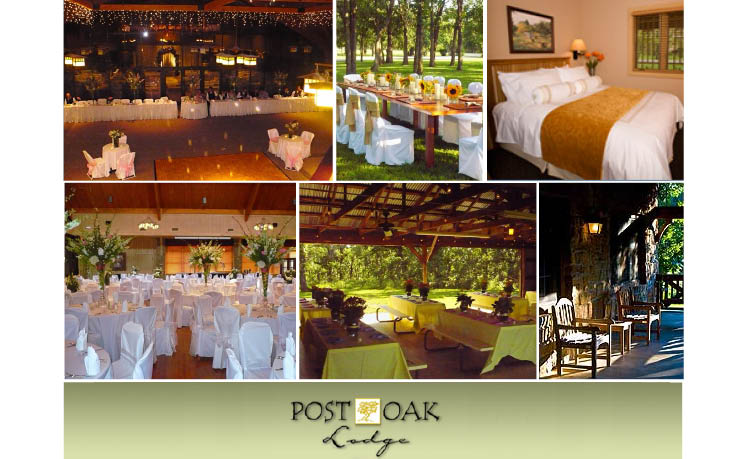 Post Oak Lodge in Tulsa, Oklahoma, is available for Oklahoma weddings, receptions and rehearsal dinners