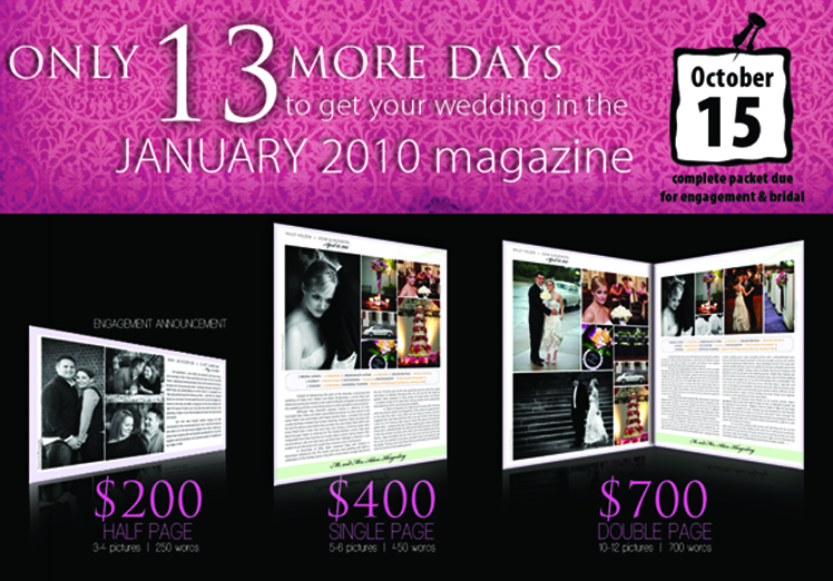 Announce your Oklahoma wedding in Brides of Oklahoma magazine